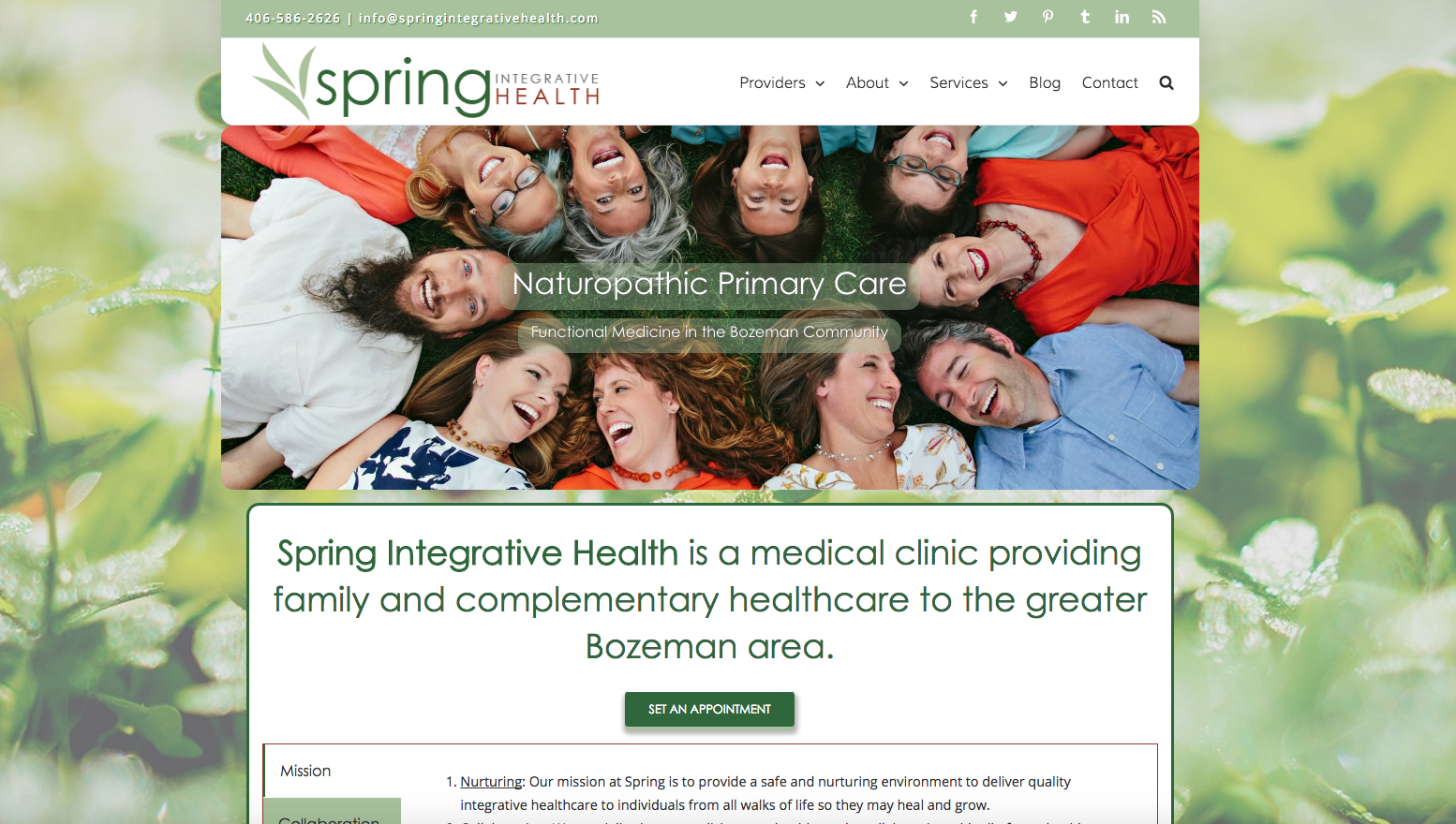 naturopath website design