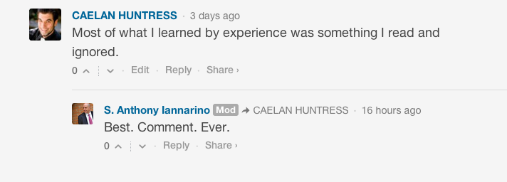 Best comment ever on iannarinos blog