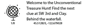 WDS 2104 Unconventional Treasure Hunt Clue 1
