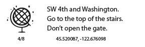 WDS 2104 Unconventional Treasure Hunt Clue 4