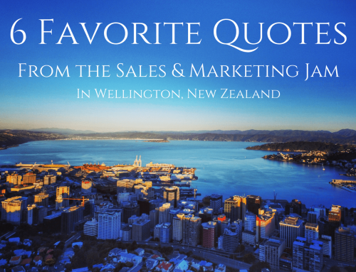 Sales & Marketing Jam Wellington, New Zealand @TechWeekNZ